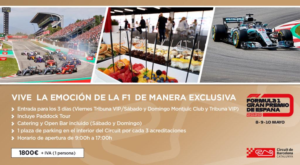 Información Producto Montjuïc Club F1 2020