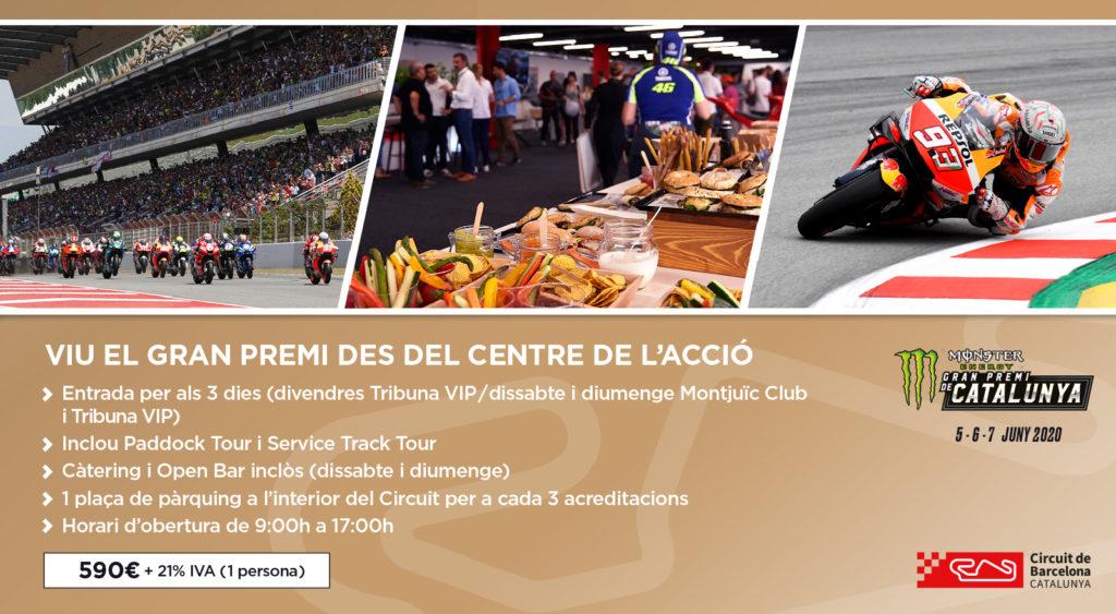 Informació Montjuïc Club MotoGP 2020